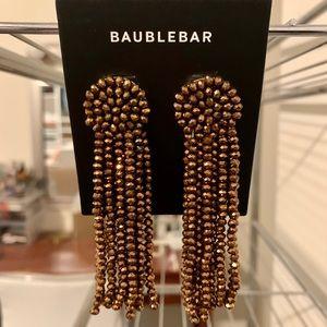 BAUBLEBAR Juliea Beaded Tassel Earrings Gold NWT